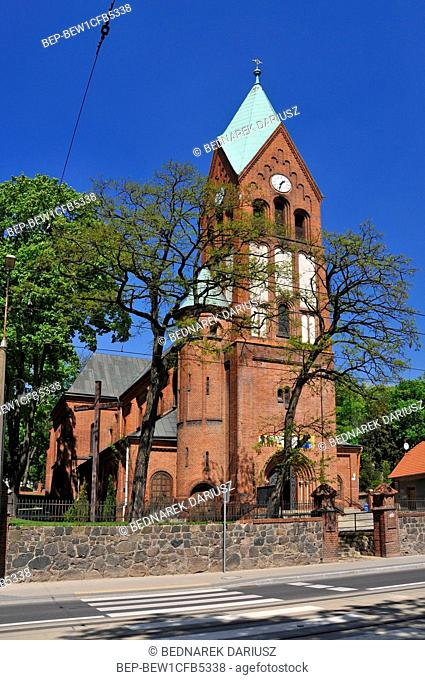 Exaltation of the Holy Cross church in Gorzow Wielkopolski, city in Lubusz Voivodeship, Poland