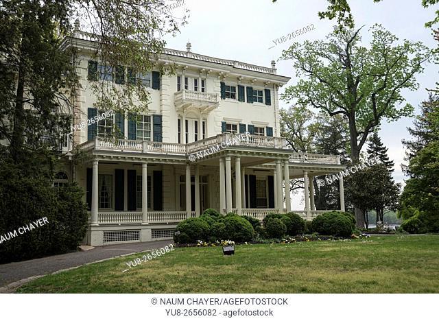Main entrance to Glen Foerd on the Delaware, historic mansion and estate, Philadelphia, Pennsylvania, USA