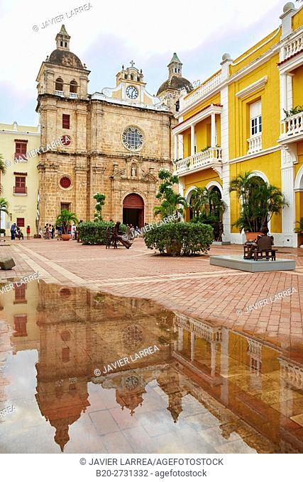 San Pedro Claver church, Cartagena de Indias, Bolivar, Colombia, South America