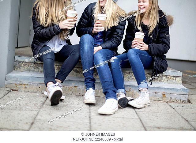 Girls having drink