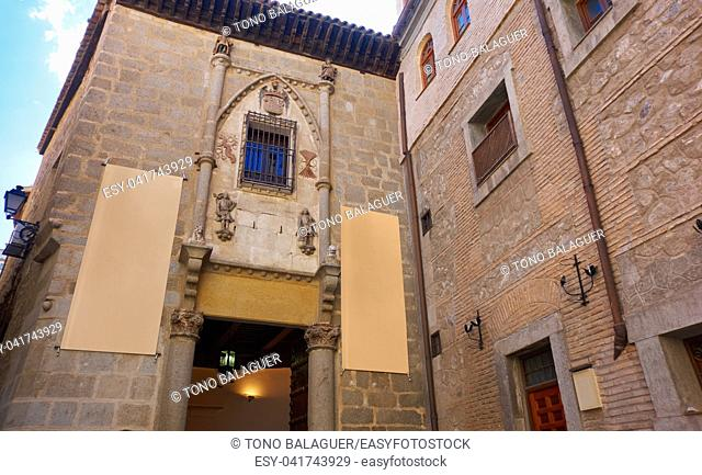 Toledo facades in Castile La Mancha of Spain