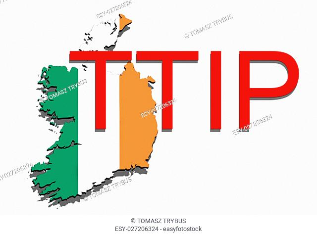 ttip - transatlantic trade and investment partnership on ireland map
