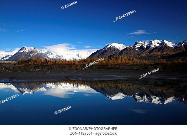 Root Gletscher bei Kennicott Alaska