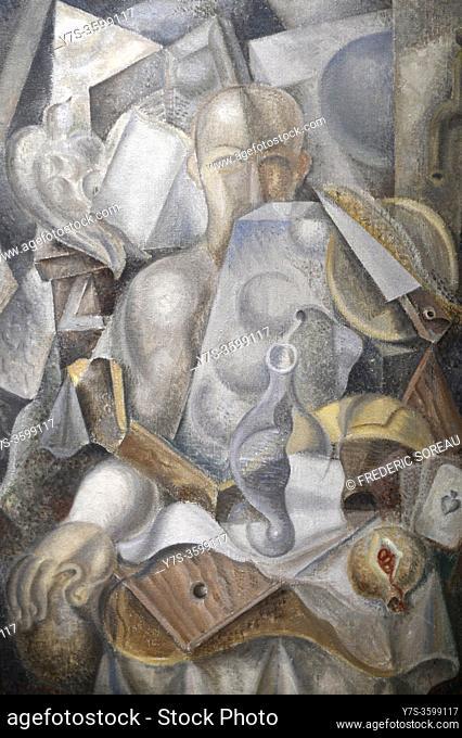 Homme dans un intérieur, 1923, 1924, André Masson, Georges Pompidou museum Paris France