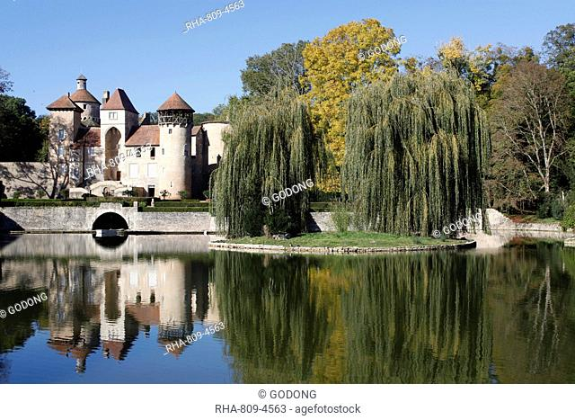 Sercy castle, dating from the 15th century, Sercy, Saone-et-Loire, Burgundy, France, Europe