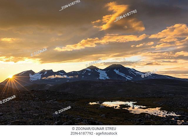 view from Sarek NP to Mt. Akka, Lapland, Sweden