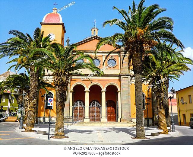 The parish church dedicated to the Blessed Virgin Mary Immaculate, Oschiri, Sassari, Sardinia, Italy
