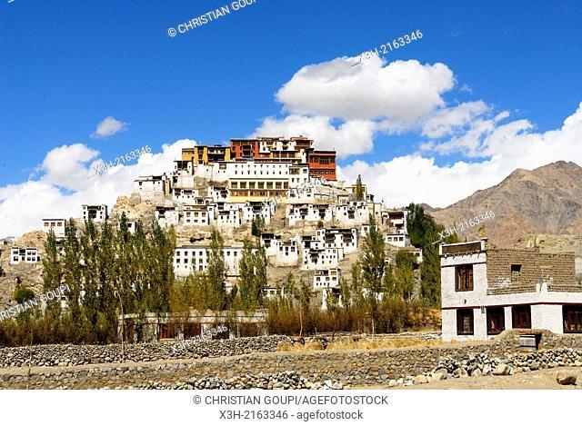 Tibetan Buddhist Thikse Monastery, near Leh, Ladakh region, state of Jammu and Kashmir, India, Asia