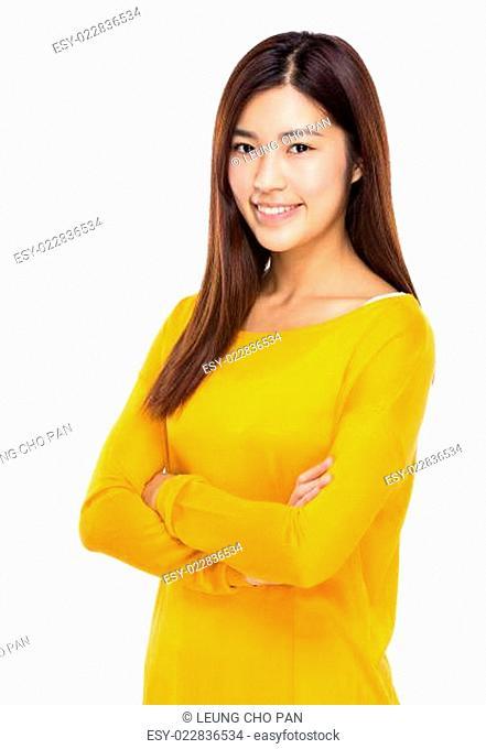 Asian woman crosshand