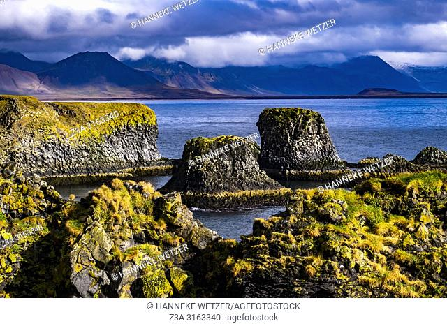Rock formations in the nature of Snaefellsnes peninsula, Iceland