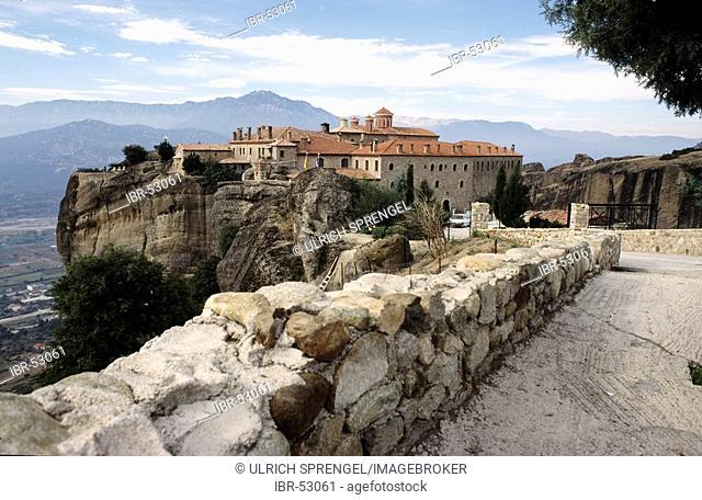 The monastery Agiou Stefanou, Greece, Thessaly, Meteora