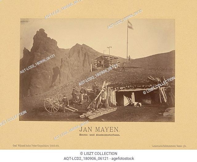 Jan Mayen, Boots- und Anemometerhaus; (Linienschiffs-Lieutenant) Richard Basso (German ?, active 1882 - 1883); Jan Mayen