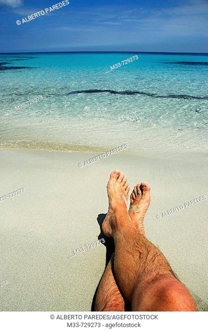 Sa Roqueta beach, Formentera. Balearic Islands, Spain