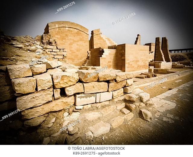 Archeological remains. Saqqara necropolis. Egypt