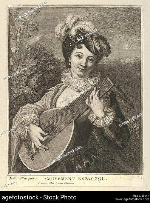 Amusement Espagnol, 18th century. Creator: Pierre François Basan