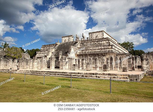 The Temple of the Warriors at Chichen Itza Ruins, Chichen Itza, Yucatan Province, Mexico, Central America
