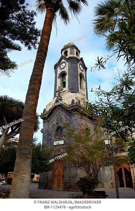 Church Iglesia de Nuestra Senora de la Pena de Francia in Puerto de la Cruz, Tenerife, Spain