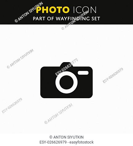 Vector Camera icon. Photo sign. Symbol Illustration