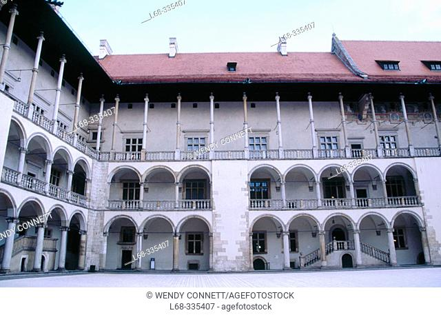 Courtyard Wavel Castle. Wavel Hill. Krakow. Poland