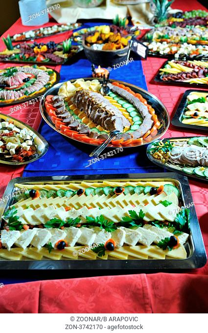 Catering food at a helloween party