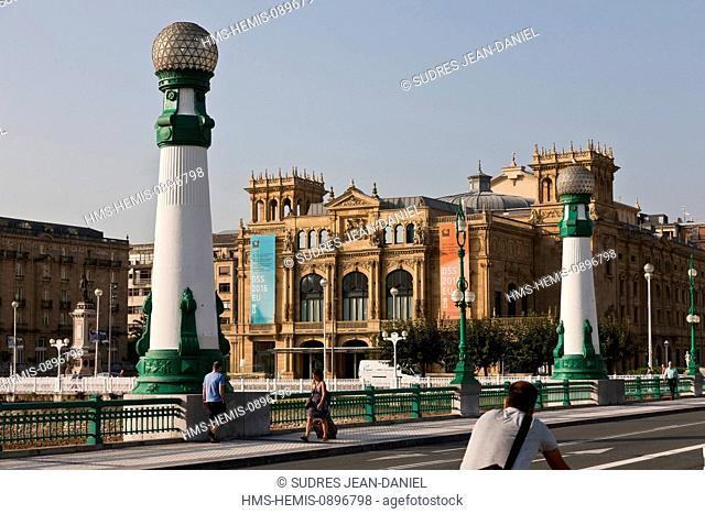 Spain, Basque Country, Guipuzcoa province (Guipuzkoa), San Sebastian (Donostia), European capital of culture 2016, the Victoria Eugenia Theatre Neo-Renaissance...