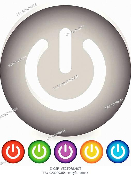 Power button, Power symbol vector graphics (eps10)   Power button, Power symbol vector graphics (eps10)