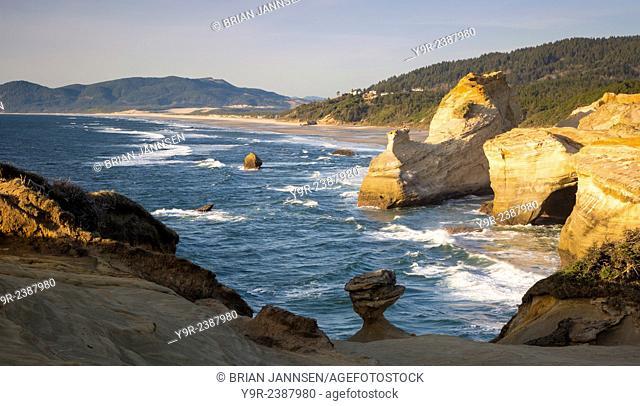 Rock formations along the coast at Cape Kiwanda, Oregon, USA