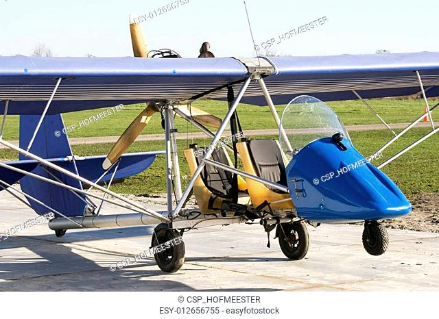 Antique ultra light plane