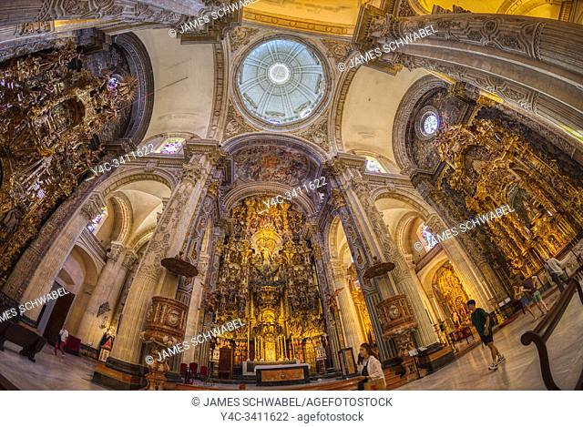 Interior of Church of Our Saviour - Iglesia del Salvador in Seville Spain