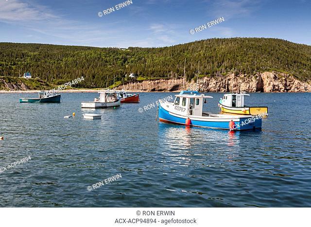 Boats at White Point on Cape Breton Island, Nova Scotia, Canada