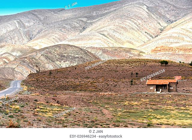 Landscape view of high Atlas Mountains, Morocco