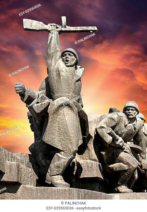 Soviet era WW2 memorial in Kiev Ukraine