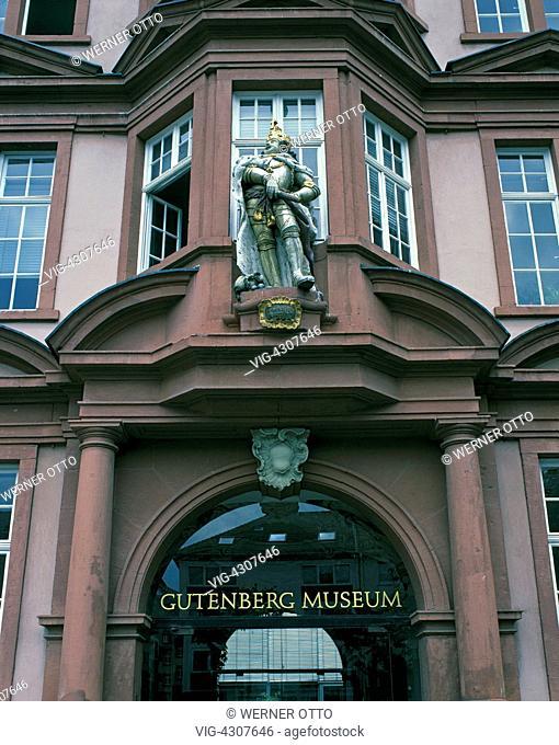 D-Mainz, Rhine, Rhine-Main district, Rhineland-Palatinate, Gutenberg Museum, Johannes Gutenberg, printers art, letterpress printing, printing museum