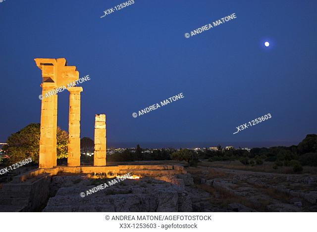 Temple of Pythian Apollo found on Monte Smith in the acropolis of Rhodes Greek island of Rhodes Greece