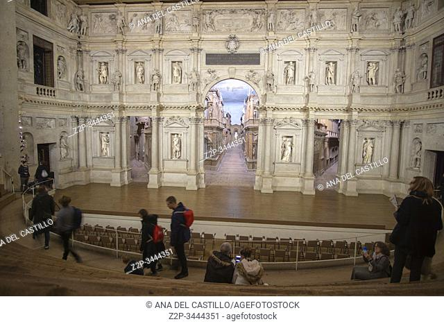 """Vicenza is also known as the """"""""city of Palladio"""""""" and has been declared a World Heritage Site by UNESCO in 1994 in Veneto Italy on November 23, 2019"""
