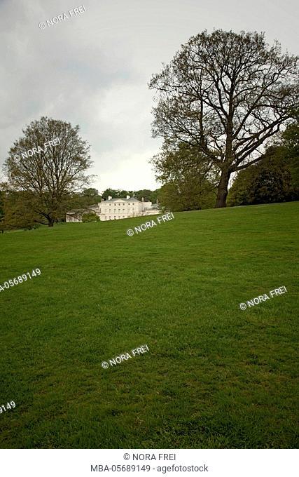 Great Britain, London, Hampstead Heath, architecture, house, grass, park