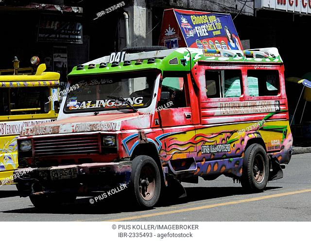 Jeepney in Cebu, Philippines, Southeast Asia, Asia