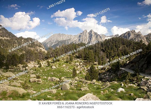 Els Encantats peaks, National Park of Aiguestortes i Estany de Sant Maurici, Lleida, Spain