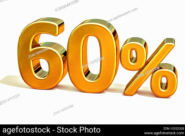 Gold Sale 60%, Gold Percent Off Discount Sign, Sale Banner Template, Special Offer 60% Off Discount Tag, Golden Sixty Percentages Sign, Gold Sale Symbol
