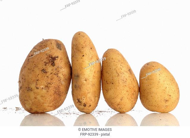 Potatoes side by side