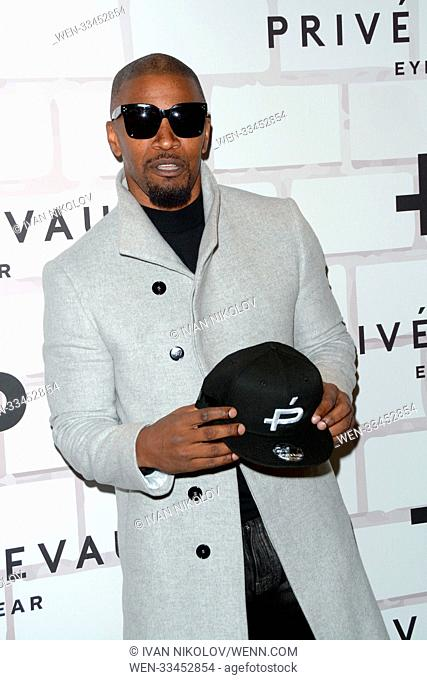 Prive Revaux Eyewear's New York Flagship Launch Event - Red Carpet Arrivals Featuring: Jamie Foxx Where: New York, New York