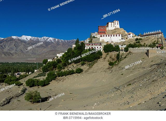 Thiksey Gompa monastery, built on a hill above the Indus valley, Ladakh, Jammu and Kashmir, India