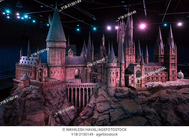Model of Hogwarts Castle, Making of Harry Potter, Warner Bros. Studio Tour, Leavesden, London