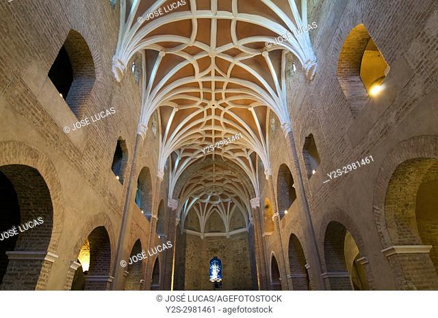 Monastery of Nuestra Senora de la Luz (also called Convent of Light) - 15th century, Gothic ribbed vault, Lucena del Puerto, Huelva province
