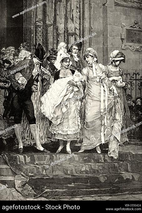 Painting of the nineteenth century, Baptism in the French epoch of the Directory, It was the penultimate form of government adopted by the French First Republic