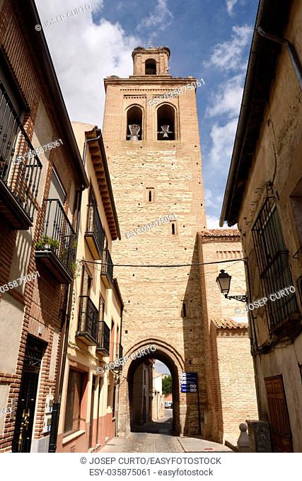 Santa Maria la Mayor church of Arevalo, Avila province, Castilla y Leon, Spain