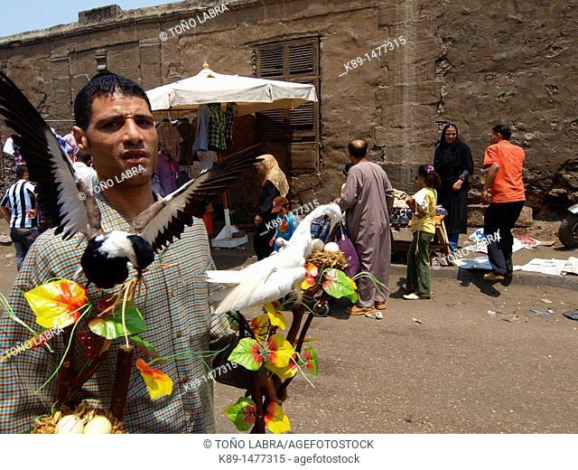 Suk guma Friday's market, Cairo, Egypt