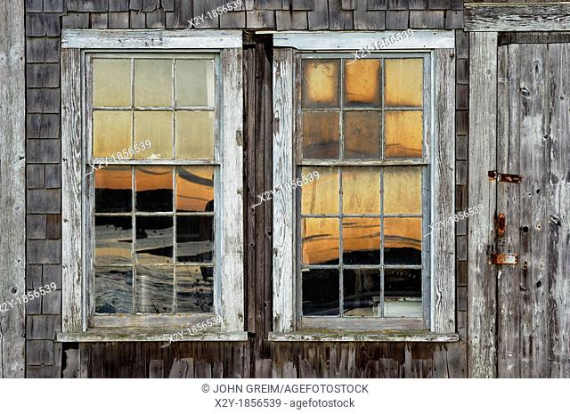 Coastal shanty detail, Menemsha, Chilmark, Martha's Vineyard, Massachusetts