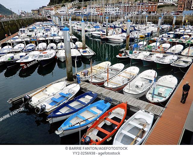 Small Boats Moored in Marina, Puerto Donostia, San Sebastián, Spain