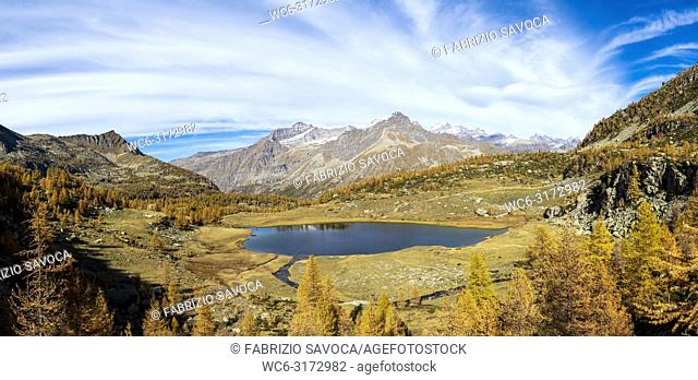 Dres Lake is a glacier lake in the Gran Paradiso National Park, Piedmont, Italy
